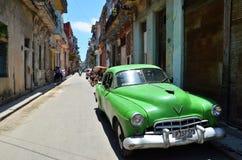 Piękni samochody Kuba, w Hawańskim Zdjęcie Royalty Free