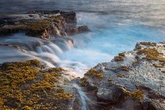 Piękni sceniczni głąbiki Duża wyspa wulkany, góry, ocean i zmierzchy Hawaje, obrazy stock