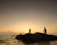 Piękni seascape widoki podczas wschodu słońca przy południowym chińskim morzem Fotografia Royalty Free