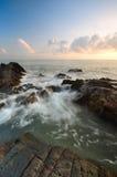 Piękni seascape widoki przy południowym chińskim morzem Obraz Royalty Free