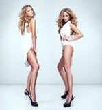 Piękni seksowni bliźniacy Zdjęcia Stock