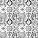 Piękni starzy ceramicznych płytek wzory royalty ilustracja