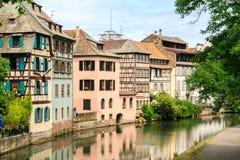 Piękni starzy domy w Strasburg, Francja obraz stock