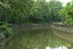 Piękni stojących wod miejsca przeznaczenia Kerala Zdjęcia Royalty Free