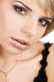 piękni twarzy fortrait kobiety potomstwa Zdjęcia Royalty Free