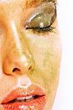 piękni twarzy kobiety potomstwa zdjęcie royalty free