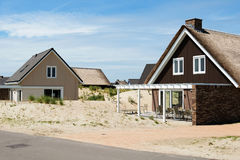 Piękni wakacji domy na wybrzeżu Dla wakacji Obrazy Stock