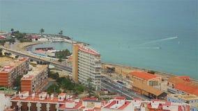 Piękni widoki Alicante Costa Blanca zbiory wideo