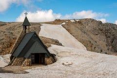 Piękni widoki kościół, Triglav park narodowy - Juliańscy Alps, Fotografia Stock