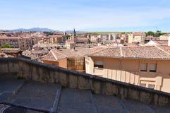 Piękni widoki Nowy miasteczko Segovia Architektury historii podróż obraz royalty free