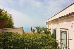 Piękni widoki Taormina wybrzeże obraz stock