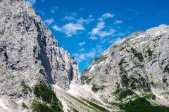 Piękni widoki Triglav mounain, park narodowy - Juliańscy Alps, Zdjęcie Royalty Free