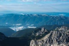 Piękni widoki Triglav park narodowy - Juliańscy Alps, Slovenia Obrazy Stock
