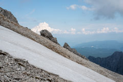 Piękni widoki Triglav park narodowy - Juliańscy Alps, Slovenia Obraz Stock