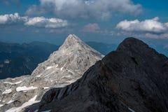 Piękni widoki Triglav park narodowy - Juliańscy Alps, Slovenia Zdjęcie Royalty Free