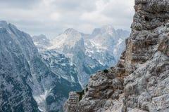 Piękni widoki Triglav park narodowy - Juliańscy Alps, Slovenia Obraz Royalty Free