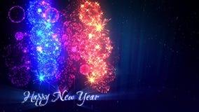 Piękni wielo- barwioni fajerwerki z laserowym przedstawieniem na zimy nocnym niebie w wigilia nowym roku Bogaci fajerwerki jako w zbiory