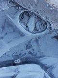 Piękni wizerunki lód, woda i ziemia w cañadas Del Teide, Tenerife 16 zdjęcia royalty free
