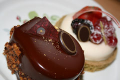 piękni wyśmienicie ciasta Zdjęcia Stock
