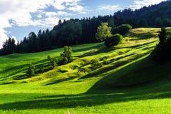 piękni zieleni wzgórza Obraz Stock