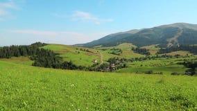 piękni zieleni wzgórza zdjęcie wideo