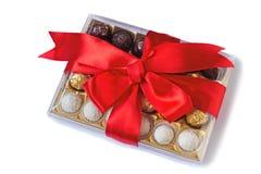 Pięknie cukierku pudełko na whit Obrazy Stock