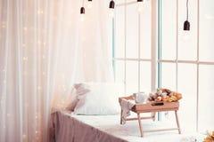 Pięknie dekorująca taca Fotografia Stock