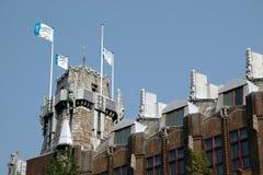 Pięknie dekorujący dach jeden Amsterdam dom Zdjęcie Royalty Free