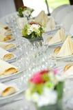 pięknie kłaść stołowy ślub zdjęcia stock