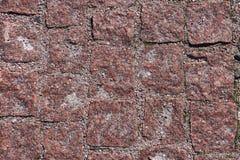 Pięknie textured czerwień kamienia powierzchni ścienna lub podłogowa tekstura Fotografia Stock