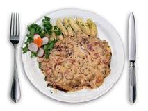 pięknie ułożone talerz jedzenia Zdjęcia Stock