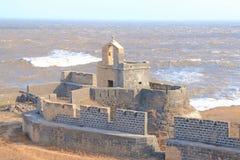 Pięknie utrzymujący fortu diu Gujarat ind zdjęcie stock