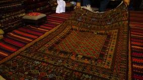 Pięknie wyplatający dywan zdjęcie wideo