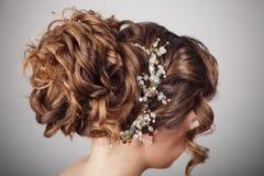 Piękno ślubna fryzura Panna młoda Zdjęcia Stock