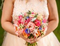 Piękno ślubny bukiet Zdjęcie Stock
