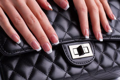 Piękno bar piękny francuski manicure Obrazy Stock