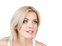 Piękno blondyny Zdjęcia Royalty Free