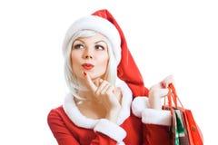 piękno boże narodzenia Claus Santa Fotografia Royalty Free