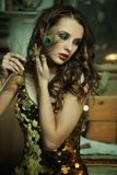 piękno brunetka Obrazy Royalty Free