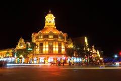 Piękno budynek przy nocą Fotografia Stock