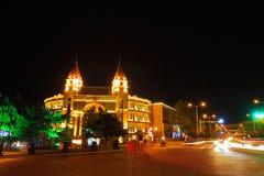 Piękno budynek przy nocą Obraz Stock