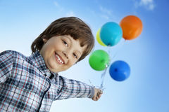 Piękno chłopiec z balonem Obraz Stock