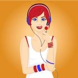 Lollypop dziewczyna Obraz Stock