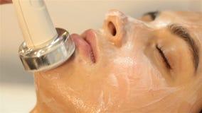 piękno czyste twarzową maskę z salonu serii zdjęcie wideo