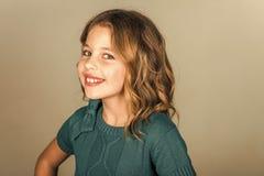 Piękno, dzieciak moda, kosmetyki i zdrowy włosy, Piękno i moda Obraz Stock