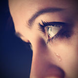 Piękno dziewczyny płacz Zdjęcia Royalty Free