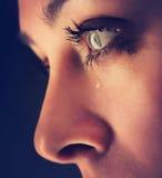 Piękno dziewczyny płacz Fotografia Royalty Free