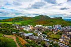Piękno Edynburg przy jesienią Obrazy Royalty Free