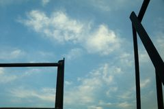 Piękno folujący niebieskie niebo Zdjęcie Royalty Free