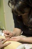 piękno francuskiego manicure gwóźdź Zdjęcie Royalty Free